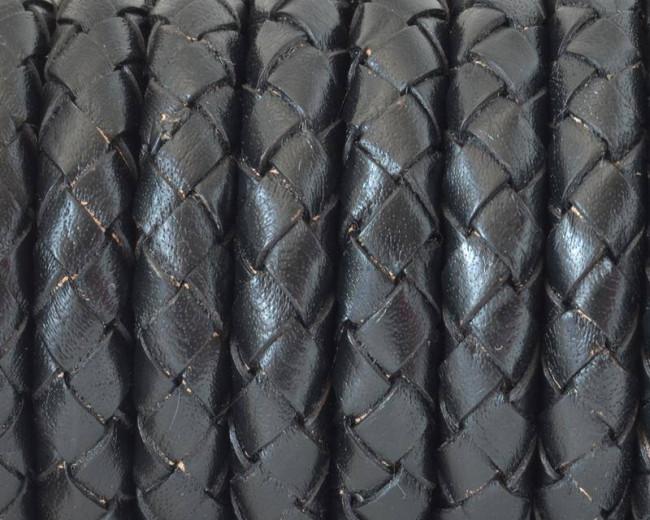 170511d207ef Cuero Trenzado Redondo 10mm. negro. Calidad Superior