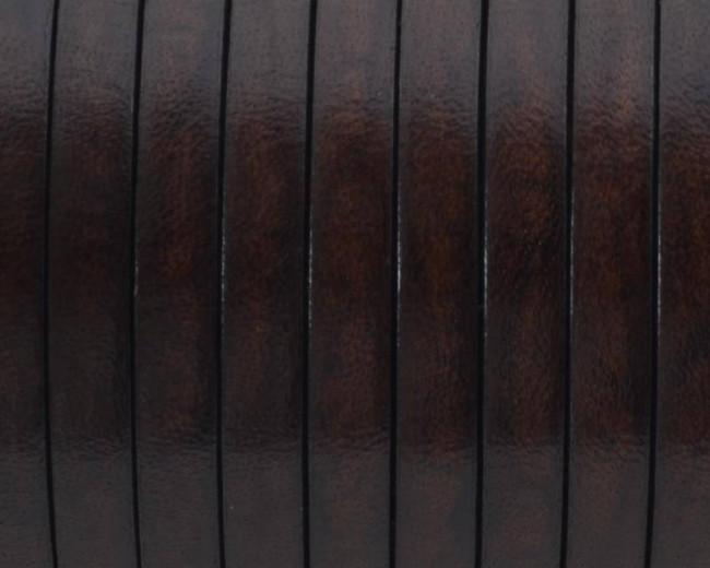 Cuero Plano 5x1,5mm. marron oscuro. Calidad superior