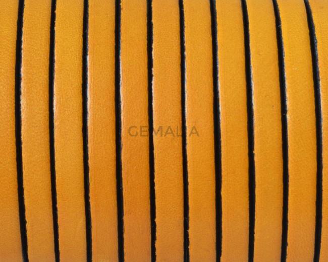 Cuero Plano 5x1,5mm. amarillo-borde negro. Calidad superior