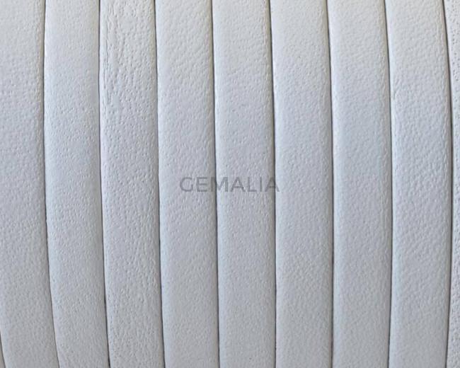 Cuero Plano 5x1,5mm. blanco. Calidad superior