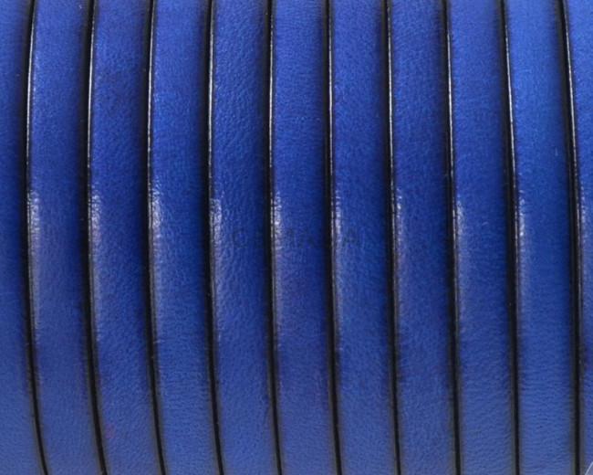 Cuero Plano 5x1,5mm. azulon. Calidad superior