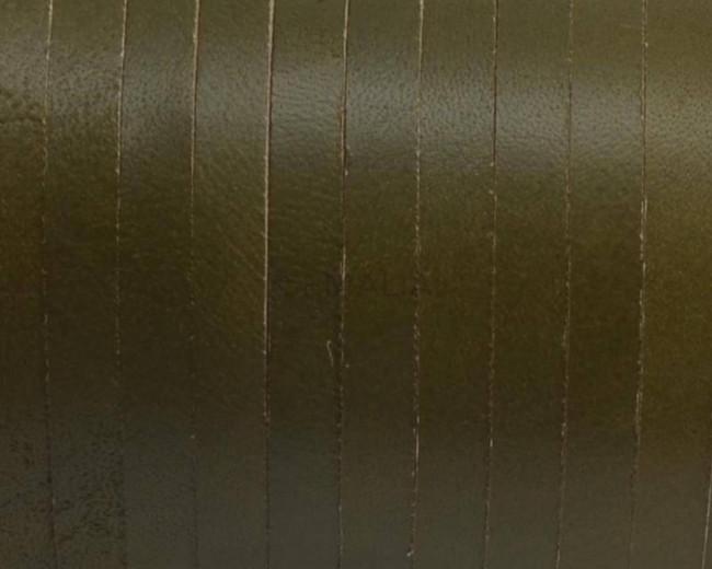 Cuero Plano 5x1,5mm. Verde pistacho. Calidad Superior
