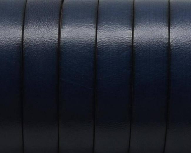 Cuero Plano 10x1,5mm. Azul marino 3. Calidad Superior