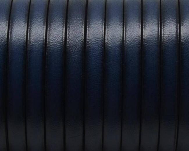 Cuero Plano 5x1,5mm. Azul marino 3. Calidad Superior
