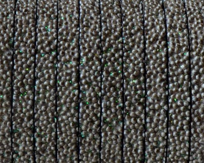 Caviar sintetico  Plano. 5x2mm. Gris oscuro. Calidad superior