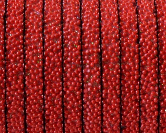 Caviar sintetico  Plano. 5x2mm. Rojo. Calidad superior