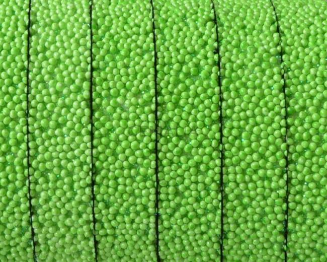 Caviar sintetico. Plano 10x2mm. Verde manzana. Calidad superior