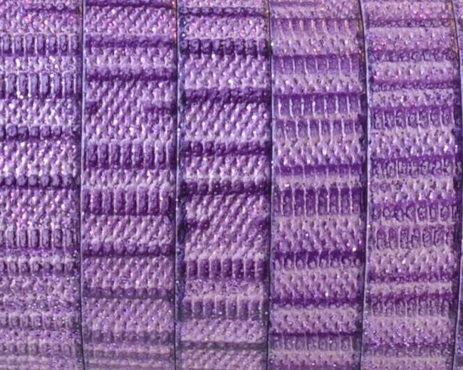 Cuero Plano 10x1,5mm. Violeta-brillantina. Calidad superior