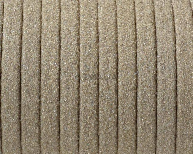 Piel de serraje Plano 5x1,5mm. Tira doblada. Purpurina.Piedra. Calidad Superior