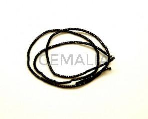Canutillo. Negro 1,5mm. 40 Cm