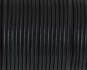 Cuero Redondo 2,5mm. negro