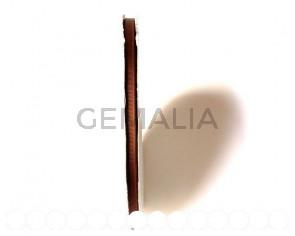 Lazo satinado con fibra artificial. 6mm. marron