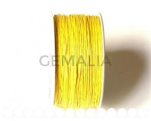 Cordon. Hilo Algodón 1mm. amarillo
