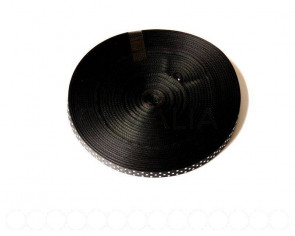 Lazo Satinado. 10mm. puntos Blancos-negro