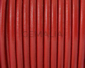 Cuero Redondo 4,5mm. rojo. Calidad superior