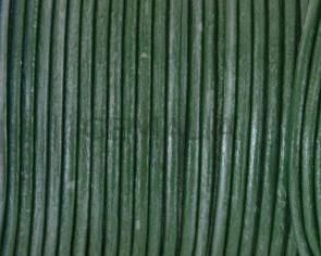 Cuero Redondo 2,5mm. pistacho metalizado