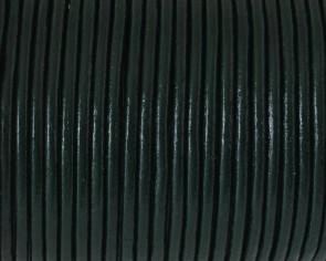Cuero Redondo 2,5mm. Verde botella