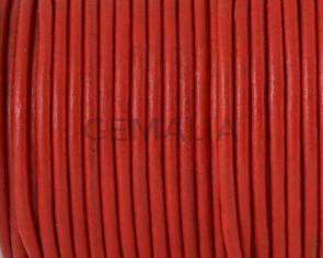 Cuero Redondo 2,5mm. rojo