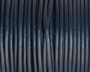 Cuero Redondo 2mm. azul marino. Calidad superior
