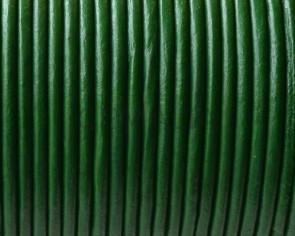 Cuero Redondo 2mm. Verde oscuro