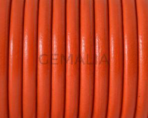Cuero Redondo 4,5mm. Naranja butano. Calidad superior
