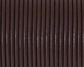 Cuero Redondo 2,5mm. Marron Oscuro. Calidad superior