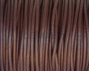 Cuero Redondo 2mm. Marron oscuro. Calidad superior