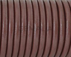 Cuero Redondo 4,5mm. Marron oscuro. Calidad superior