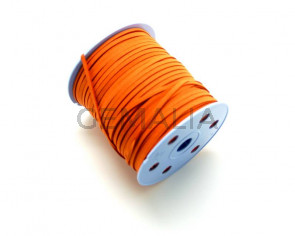 Cordón Antelina. 3mm. Naranja butano.