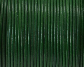 Cuero Redondo 1mm. Verde oscuro.