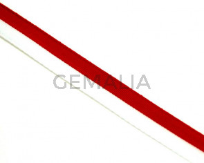 Lazo. Bandera. 10mm. Blanco-rojo. Calidad superior