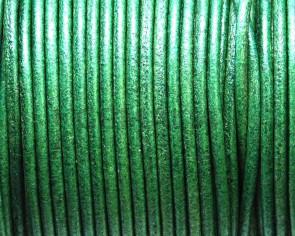 Cuero Redondo 2mm. Verde. Calidad superior