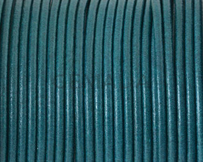 Cuero Redondo 2mm. Azul Turquesa. Calidad superior