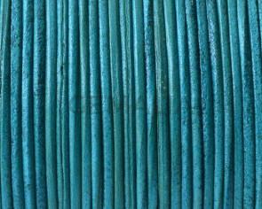 Piel de Canguro. Redondo 1mm. Verde Mar. Calidad Superior
