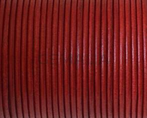 Cuero Redondo 2mm. Rojo. Calidad superior