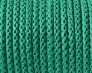 Cordon polipropileno. Trenzado. Redondo. 4,5mm.Verde. Calidad superior