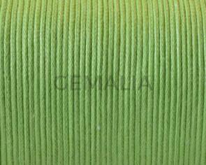Cordon Algodon encerado. 1mm. Verde pistacho. 100m. Calidad Superior