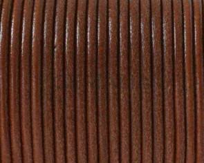 Cordon de cuero Redondo 2,5mm. Marron claro. Calidad superior.
