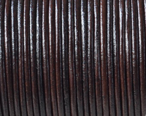 Cordón de Piel de canguro 1,6mm. Marrón oscuro. Calidad superior.