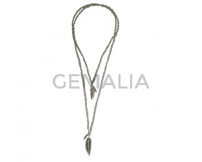 COLLAR Doble cadena-pluma
