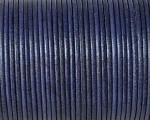 Cordón de piel de canguro redondo 1,6mm. Morado oscuro. Calidad superior.