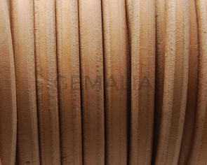 Cuero REGALIZ. Oval 10x6mm . natural. Calidad superior