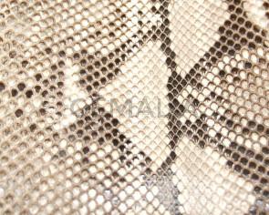 Piel de serpiente Piton. Plancha. 18x23cm. Blanco-negro.