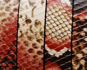 Imitacion Serpiente. Plano 15x2,5mm. Rojo. Calidad superior
