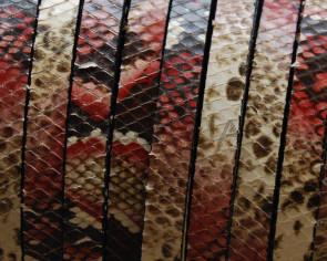 Imitacion Serpiente. Plano 10x2,5mm. Rojo.