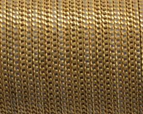 Cuero Plano con cadena. 8x2mm. Dorado-Base marron oscuro. Calidad Superior