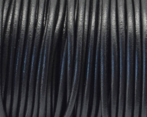Cuero Redondo 3mm. Negro. Calidad Superior
