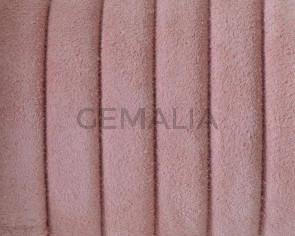 Piel de serraje REGALIZ. Oval 10x6mm . Rosa. Calidad superior