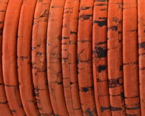 Corcho Plano 5x1,5mm. Tira doblada. Naranja-t. Calidad superior