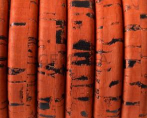 Corcho REGALIZ. Oval 10x6mm . Naranja-t . Calidad superior